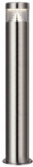 2 PACK - illucio LED Garden/Outdoor Lampost Bollard Lighting Fixture in Stainless Steel - il-0001x2